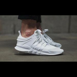 official photos bd976 113fc All white adidas EQT's